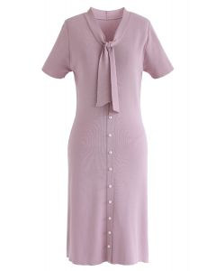 Something Real Knit Midi Dress in Pink