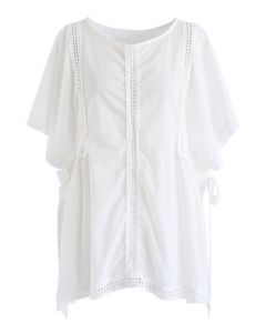 Love Illumination Eyelet Dolly Top in White