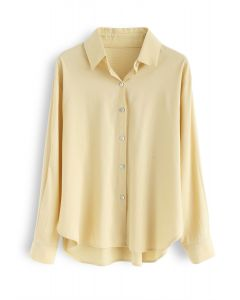 Shell Buttons Down Shirt in Yellow