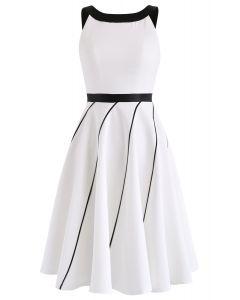 Back Bowknot Halter Neck Dress