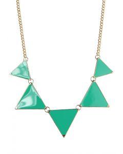 Neon Triangle Enamel Necklace