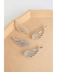 2-Pack Crystal Wing Bobby Pins