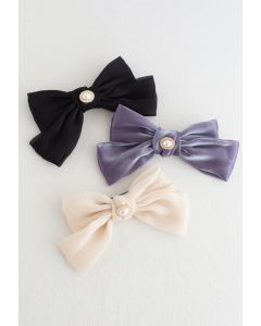 Pearly Big Bow Barrette