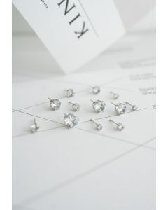 6-Pack Diamante Earrings