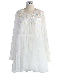 The Fairest Mesh Tulle White Dress