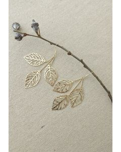 Golden Leaf Branch Drop Earrings