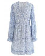 Enchanted Floret Deep V-Neck Dress