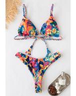 Passionate Pattern Braid Bikini Set