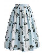 Pine-mingo Stripe Printed Midi Skirt