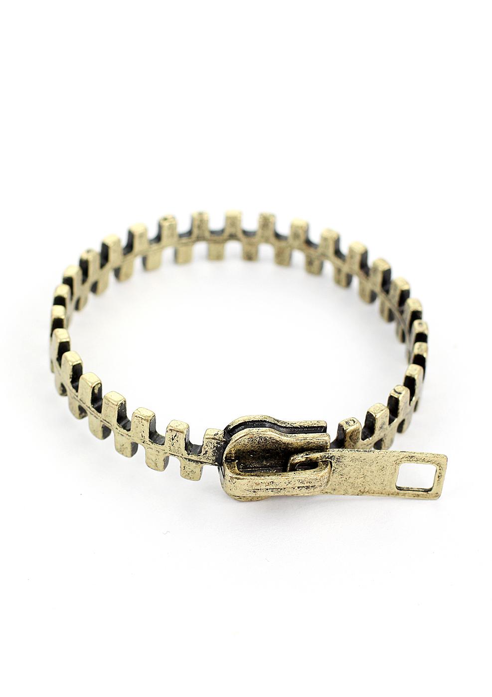 Zip Retro Metal Bracelet