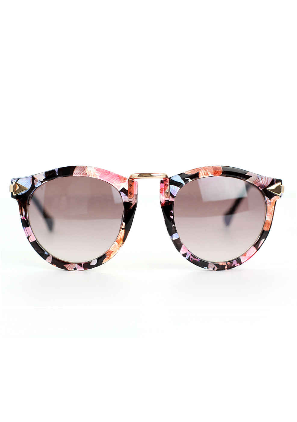 Chicwish Multi-Color Sunglasses with Metal Detail