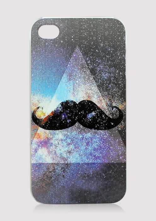 Mustache and Galaxy Mobile Phone Case