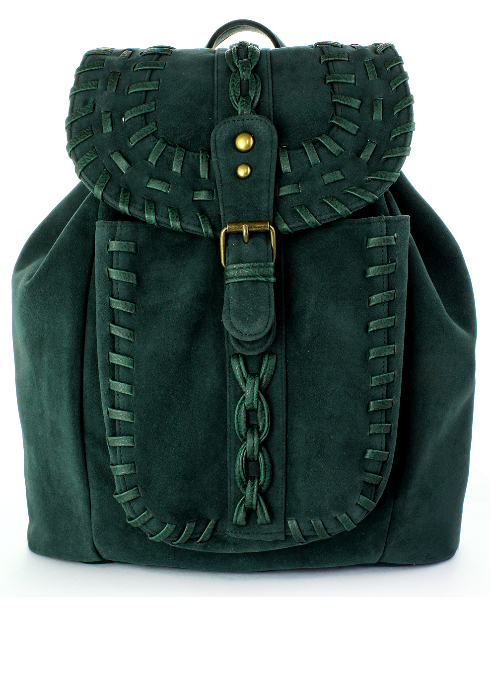 Chicwish Green Knit Backpack