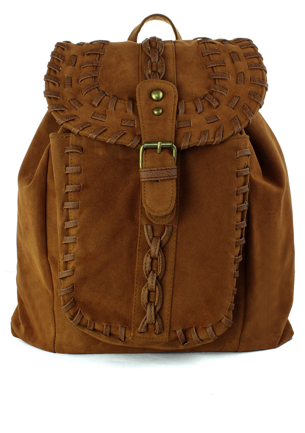 Chicwish Camel Knit Backpack