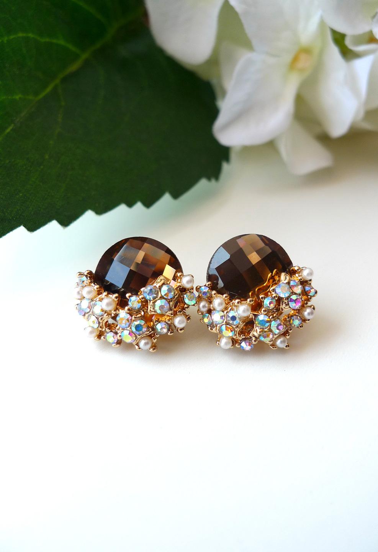 Pearl Diamond Shape Earrings
