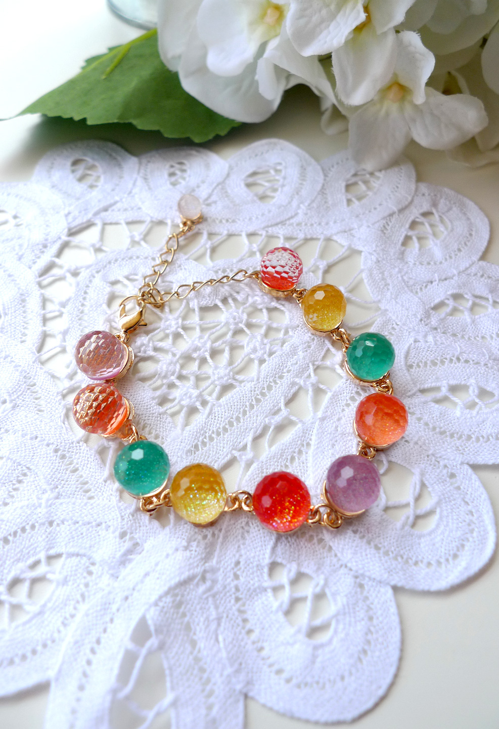 Colorful Candy Balls Bracelet